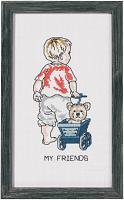 """Набор для вышивания """"Мальчик с паровозиком"""""""