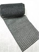 Тесьма декоративная имитация страз, черная 12 см.