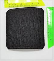 Термоаппликация квадрат черный однотонный, 6,8х6,8 см