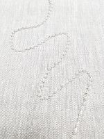 Тесьма декоративная из бусин, перламутровый/серебро 3 мм.