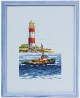 """Набор для вышивания """"Лодка и маяк"""""""