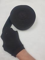 Манжеты  трикотажные кругловязанные на метраж, цвет т.коричневый
