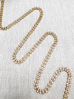 Тесьма декоративная из страз, золото 6 мм.