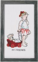 """Набор для вышивания """"Девочка с куклой"""""""