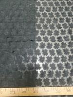 Шифон с цветочками черный