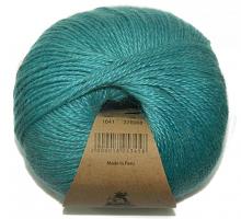 Пряжа Альпака Силк (Alpaca Silk), цвет 1641 светлая бирюза