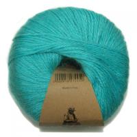 Пряжа Альпака Силк (Alpaca Silk), цвет 3743 яркая бирюза