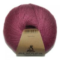 Пряжа Альпака Силк (Alpaca Silk), цвет 3730 брусника