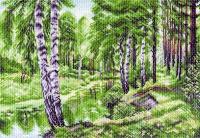 """Рисунок на канве 37х49см арт.1228 """"Летний пейзаж"""""""