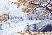 """Рисунок на канве 37х49см арт.1200 """"Первый снег"""""""