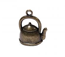 """Подвеска металлическая """"чайничек"""" бронза, 20 х 16,5 мм."""