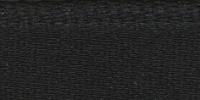 Молния RIRI металл. GO, 4 мм, 16 см, на атласной тесьме, 1замок разъемн., FLASH черный