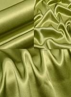 Креп-сатин, цвет оливковый