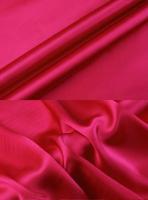 Креп-сатин, цвет малиновый