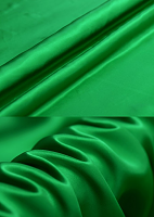 Креп-сатин, цвет лесной зеленый
