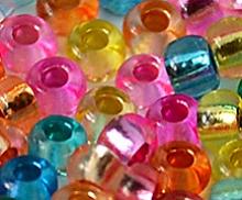 Прозрачный огонек окрашенный (Crystal - Silver Lined and Dyed)
