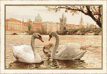 "Набор для вышивания арт.СС-1364 ""Лебеди,Прага"" 45х30 см"