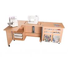 Стол раскладной для швейной машины с раскройным местом ECLIPSE, бук