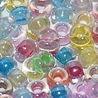 Прозрачный с прокрасом (Crystal lustered and color lined)