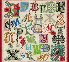 """Набор для вышивания арт.CС-1435 """"Алфавит"""" 50х50 см"""