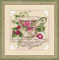 """Набор для вышивания арт.СС-1476 """"Малиновый чай"""" 20х20 см"""