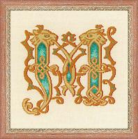 """Набор для вышивания арт.СС-1292 """"Буквица М"""" 19x19 см"""