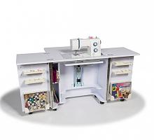 Стол раскладной для швейной машины GEMINI, белый
