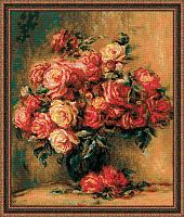 """Набор для вышивания 1402 """"Букет роз"""" 40х48 см"""
