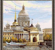 """Набор для вышивания арт.СС-1283 Б """"Санкт-петербург, Адмиралтейская набережная"""" 40x40 см"""