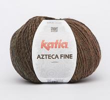 ППряжа Azteca Fine  (Ацтека Файн) 200 коричневый-темно-зеленый